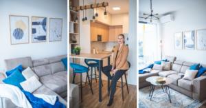 Arhitektica Bisera Berberkić dizanirala mali momački stan: Umjesto tamnih nijansi korištena kraljevsko plava boja