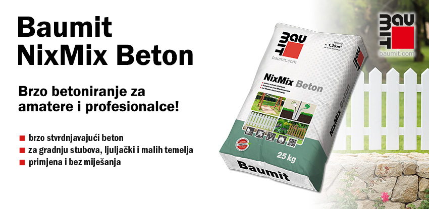 Baumit NixMix Beton: Brzo betoniranje za amatere i profesionalce!